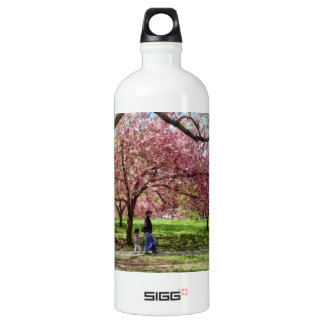 Enjoying the Cherry Trees Water Bottle
