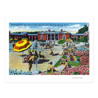 Enjoying the Saratoga Spa Recreation Center Postcard