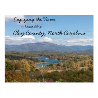 Enjoying the Views in Clay County, North Carolina Postcard