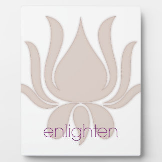 Enlighten Lotus Plaque