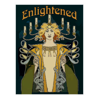 Enlightened Art Deco Man Poster
