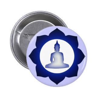 Enlightened Buddha 6 Cm Round Badge