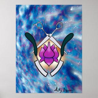 Enlightened Hair Logo Poster