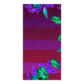 Enlightening greenish blossom and colorful leaves custom photo card