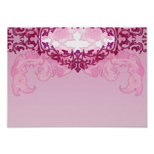 Enlightening pink damask and floral gift print