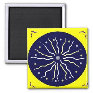 Enlightenment Mandala Square Magnet