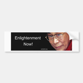 Enlightenment Now! - Dalai Lama Bumper Sticker