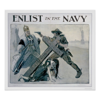 Enlist in the Navy (US02312) Poster