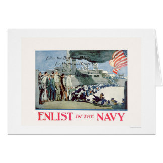 Enlist Navy - Follow the Boys in Blue (US02309) Greeting Card