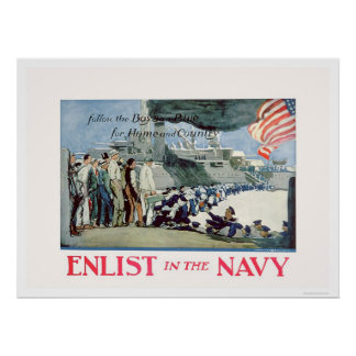 Enlist Navy - Follow the Boys in Blue US02309 Posters