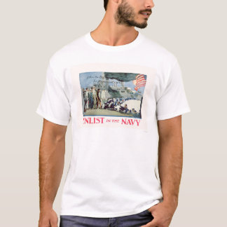 Enlist Navy - Follow the Boys in Blue (US02309) T-Shirt