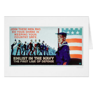 Enlist Navy, the 1st Line of Defense (US02160) Greeting Card