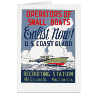 Enlist Now! U.S. Coast Guard Card