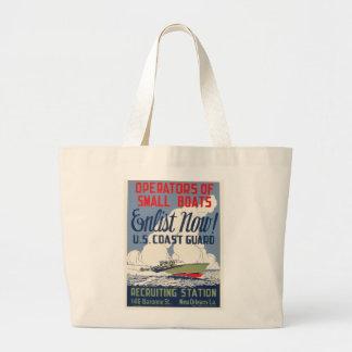 Enlist Now! U.S. Coast Guard Jumbo Tote Bag