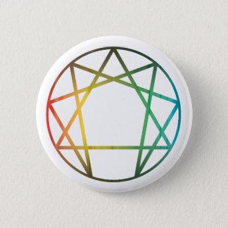 Enneagram Rainbow 6 Cm Round Badge