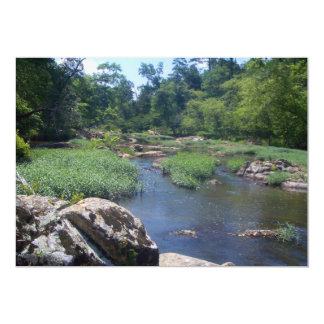 Eno River, North Carolina 13 Cm X 18 Cm Invitation Card
