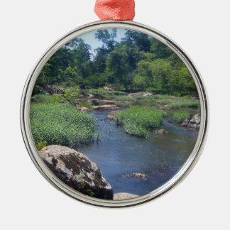 Eno River, North Carolina Metal Ornament