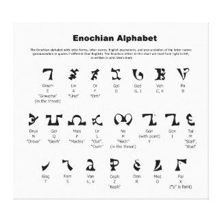 Enochian Alphabet Chart Stretched Canvas Print