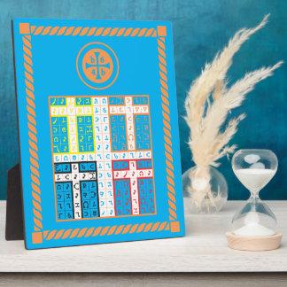 Enochian Water Elemental Tablet Display Plaques