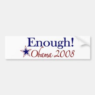 Enough Obama 2008 (Lipstick on a pig) Bumper Sticker