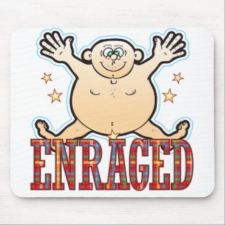 Enraged Fat Man Mouse Pad