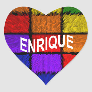 ENRIQUE HEART STICKER