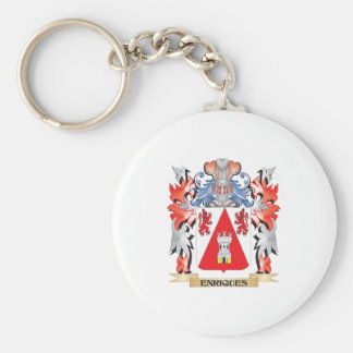 Enriques Coat of Arms - Family Crest Basic Round Button Key Ring