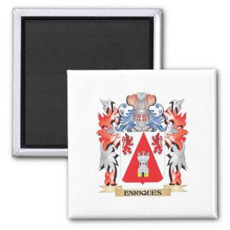 Enriques Coat of Arms - Family Crest Square Magnet