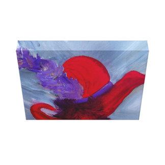 ensemble chapeau rouge stretched canvas prints