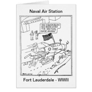 Ensign Bush Cartoon Card