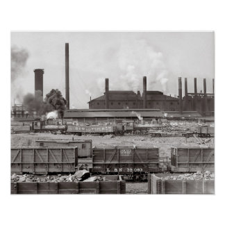 Ensley Iron Works 1906 Poster