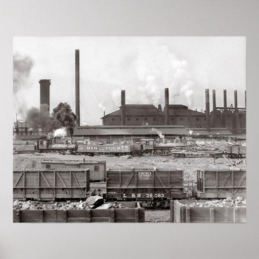 Ensley Iron Works, 1906 Poster