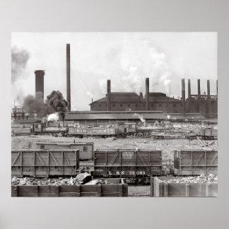 Ensley Iron Works, 1906. Vintage Photo Poster