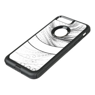 Enso, a Perfect Black and White Zen Fractal Circle OtterBox Commuter iPhone 8 Plus/7 Plus Case