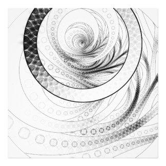 Enso, a Perfect Black and White Zen Fractal Circle Photo Print