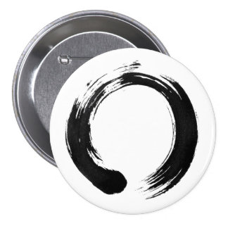 Enso Circle Large, 3 Inch Round Button