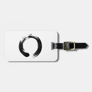 Enso Circle Luggage Tag w/ leather strap