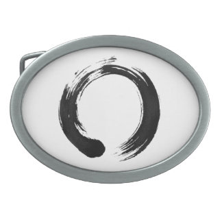 Enso Circle Oval Belt Buckle