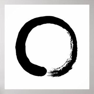 Enso Circle Zen Calligraphy Poster
