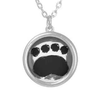 Enso Paw Design Silver Plated Necklace