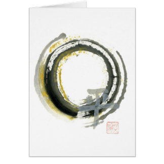 Enso with PAX, Sumi-e Card