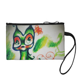 Ensorcelled Watermelon Kitty Two-Tone Change Purses