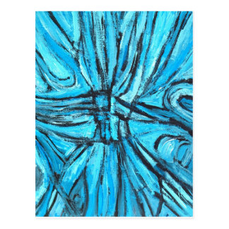 Entangled Cross (linear expressionism) Postcard