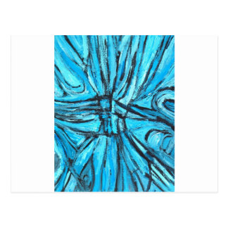 Entangled Cross (linear expressionism) Postcard