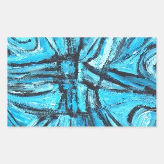 Entangled Cross (linear expressionism) Rectangular Sticker