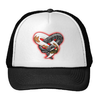 enteined snakes trucker hat