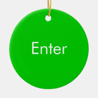 Enter / Do Not Enter two sided Door Hang Round Ceramic Decoration