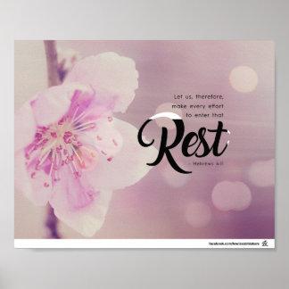 Enter His Rest Poster