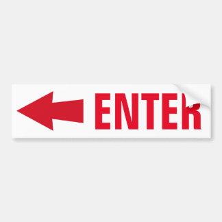 Enter Sign Car Bumper Sticker