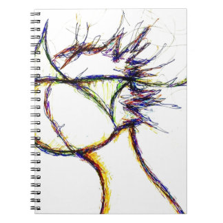 Enter the Fire Mind by: Luminosity Spiral Notebook